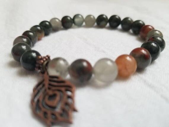 Clarity: Reiki Attuned Bloodstone Healing Bracelet