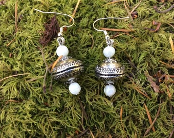 Perception, Intuitive, Dialect, Chrisma, Sterling Silver, Prosperity, Strong, Well Being, Wholesome, Jade, Earrings