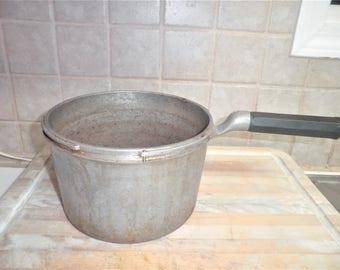 Vintage aluminum pressor cooker pot