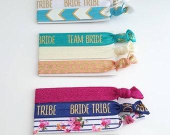 Bridal Party Elastic Hair Ties - Your Choice Of Color - Yoga Hair Ties - Bridesmaid Gift - Bridal Party Favor - Bridal Shower Gift
