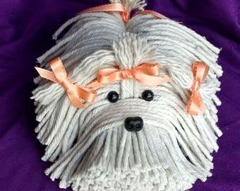 Just Peachy Puppy Dog - Havanese - Shih Tzu - Maltese - Lhasa Apso - Bichon - White Dog - Schnauzer - Coton De Tulear - Tibetan Terrier