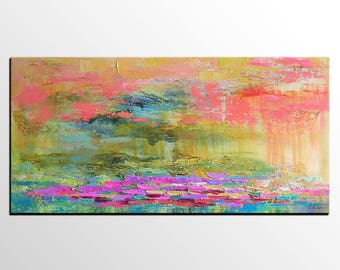 Extra Large Painting, Impasto Art, Custom Painting, Modern Art Painting, Canvas Art, Abstract Landscape Painting, Large Abstract Painting