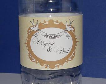 Kraft water bottle label