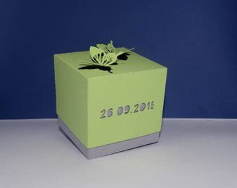 Box dragees flown lime Butterfly
