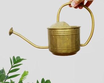 MID CENTURY WATERING Can // Vintage Water Pitcher // Flower Pot Garden Decor Cottage Chic