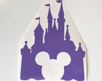 Vinyl Decal - Disney Castle with Mickey