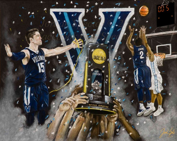 Featured listing image: Villanova Mens Basketball 2016 National Champions - Fine Art Print