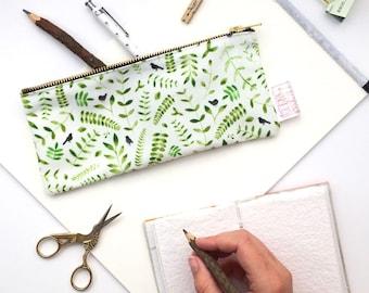 Rustic, Bridesmaid Gift, Pencil Case, Pencil Pouch, Make Up Bag, Small Bag, Zipper Pouch, Pouch, pencil bag, cute pencil case, Floral Print