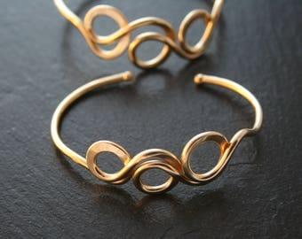 Triple Loop Bracelet in Bronze