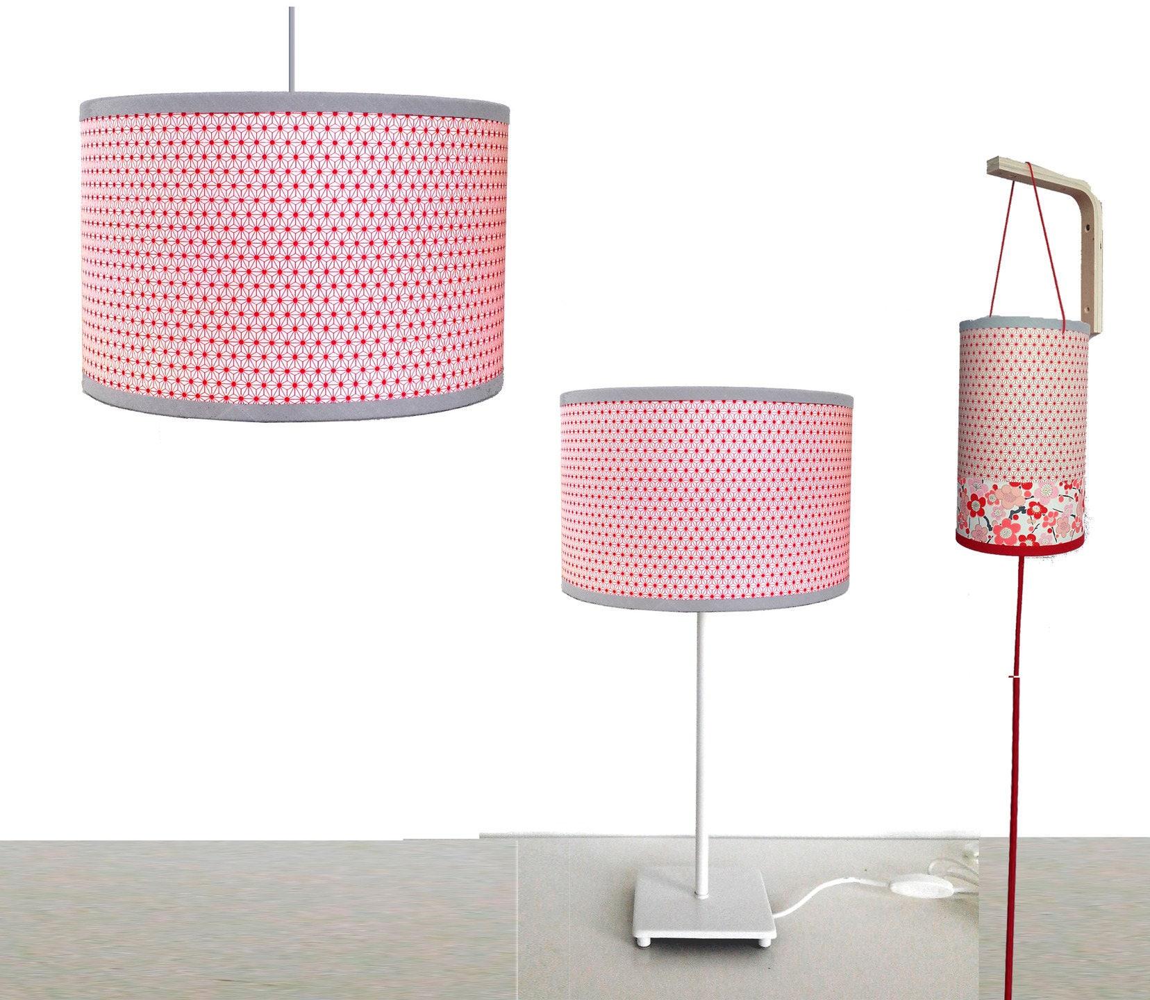 suspensionabat jour et baladeuse papier japonais etoiles. Black Bedroom Furniture Sets. Home Design Ideas