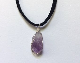 Amethyst Necklace // Amethyst Crystal // Crystal Jewelry