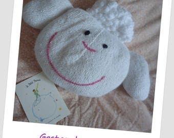 baby child Gaston sheep cuddly cushion