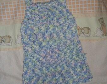 baby blue summer dress handmade 6 months