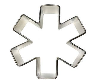 "Medical Cookie Cutter Asterisk Cookie Cutter EMT Cookie Cutter 3"" RM-826"