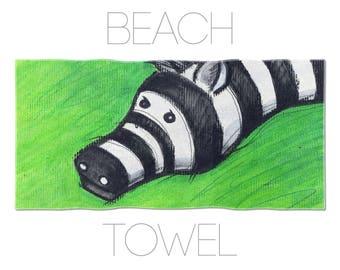 Kids Towels, Illustration Art, Animal Towel, Kids Swimming Towels, Animal Lover Gift, Bath Linen, Nursery Towel