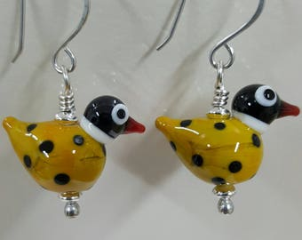 Little Handmade Bird Earrings