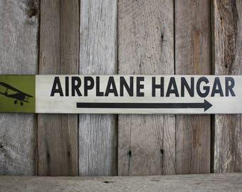 Aviation Sign, Pilot Sign, Airplane Hangar Sign, Aviation Wall Sign, Aviation Wall Art