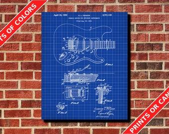 Guitar Poster, Tremolo Patent Print, Music Art Poster, Musician Guitarist Gift Living Room Decor