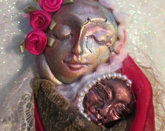 Mary Of All Children. Goddess Doll. Assemblage Art, OOAK.