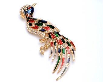 Bird brooch for woman, Wife gift brooch, Animal jewelry brooch, bird brooch, lapel brooches for her,animal jewelry pin
