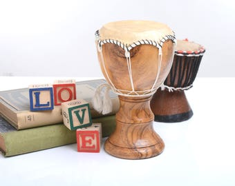 African little drum, decorative drum, gift for musicians