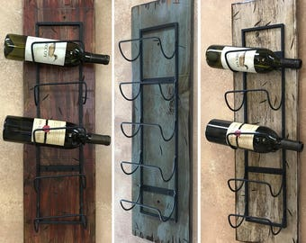 Wall wine rack | Etsy