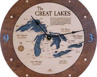 """Great Lakes 18"""" 3D Clock"""