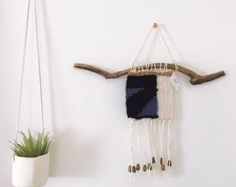 Mini Black, Blue & White Weaving