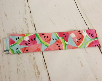 "Watermelon Long Needle Cozy DPN Holder - needle project holder 9""x2"" - (Hold up to 8"" Needles) NCL0041"