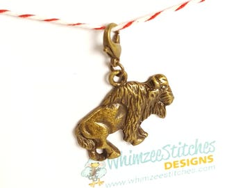 Bison (bronze) Progress Keeper Marker Stitch Marker with lobster clasp PK0017
