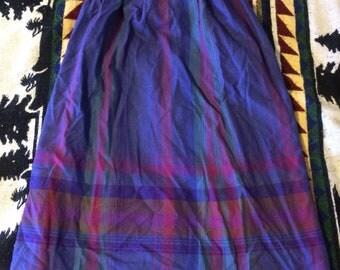 1980s Ladies Pendleton Plaid Skirt