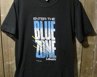 Vintage Enter the Blue Zone Labatt's Blue t-shirt 1988