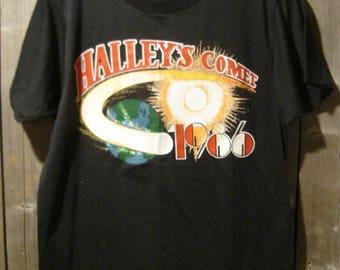 Vintage Commemorative Halley's Comet 1986 Screen Stars T-Shirt