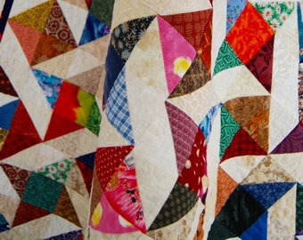 Friendship Stars lap quilt