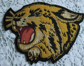 Vintage Letterman's Jacket Logo Patch/ Cougar Letterman Patch