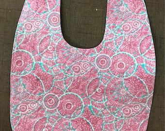 Baby Bib - Pink/Green Circles