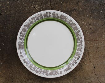 Swedish Gefle TULPAN Dinner Plate, Designed By Helmer Lindström, Gefle Upsala Ekekeby, Vintage Gefle Sweden Scandinavian Design