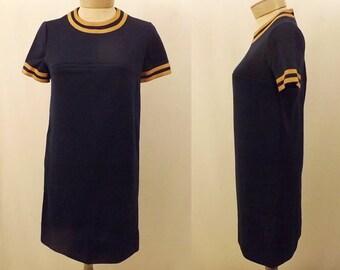 60's Vintage Jonathan Logan Blue Knit Dress Size 6