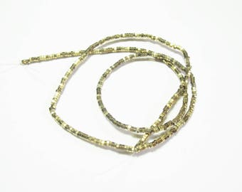 100 GOLD GLASS RONDELLE BEADS HAVE FACETED 2 MM