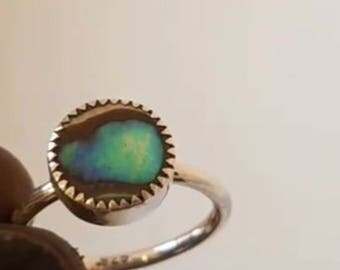 Petite Abalone Ring , Round, custom