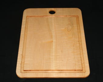 "Curly Maple Cutting Board with Moat - 16"" x 12"""
