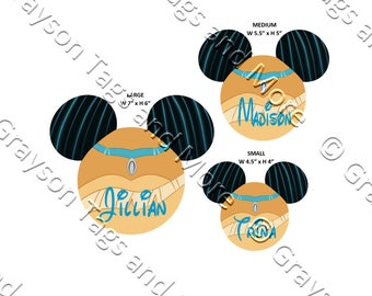 NEW!!  Pocahontas Inspired Mouse Head Disney Cruise Door Magnet (3 sizes to choose from)