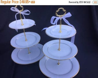 White Gold 3 Tier Cake Stand
