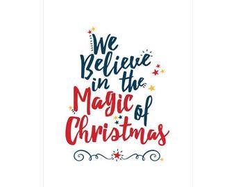 Magical Christmas Morning Christmas Poster - Downloadable Print
