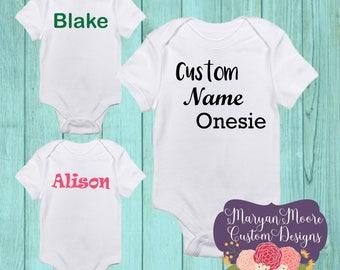 Custom Name or Word Onesie Bodysuit