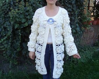 Ladies white vest / custom made