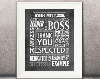 Boss Print - Bosses Day - Boss Gift - 11x14 - DIGITAL Printable File