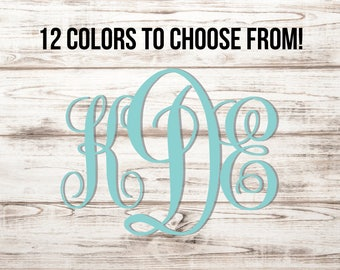 Monogram Vinyl Decal | Monogram Decal | Car Decal | Laptop Decal | Yeti Decal