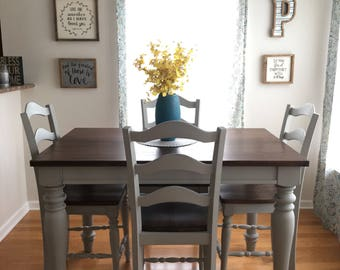Good SOLD Farmhouse Counter Height Table And Chair Set