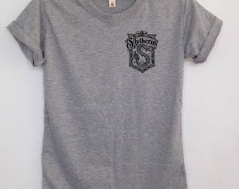 Slytherin Quidditch pocket tshirt graphic shirt harry potter clothing